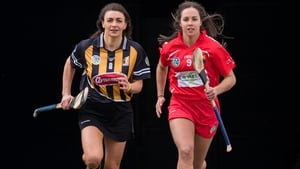 Kilkenny's Anna Farrell with Cork's Julia White