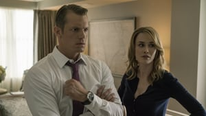 McElligott with Joel Kinnaman, as Hannah and Will Conway in a still from House of Cards season five