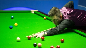 Kyren Wilson will face John Higgins or Mark Allen in the next round
