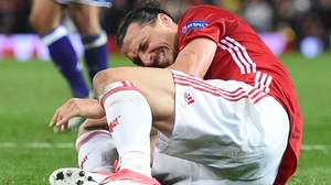 Zlatan Ibrahimovic could be out for the rest of this year