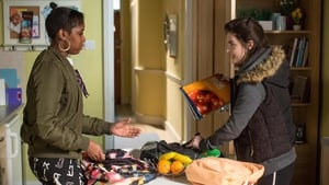 Madison and Alexander mess around with Louise's school bag on EastEnders
