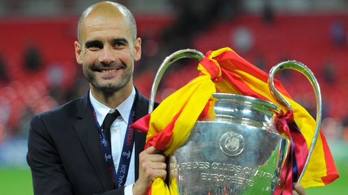 Pep Guardiola won the Champions League with Barcelona at Wembley in 2011