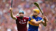 Conor Cooney (L) in action against Tipperary last summer
