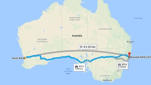The 12-year-old boy was 1,000km into his 4,000km journey before being stopped by police (Pic: Google maps)