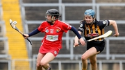 Cork's Amy O'Connor with Claire Phelan of Kilkenny