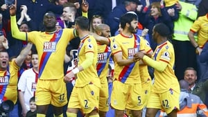 Christian Benteke scored twice at his former club