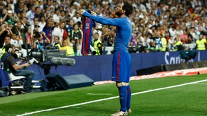 Lionel Messi after his last-gasp winner against Real Madrid back in April