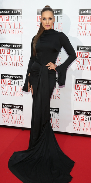 Foodie and fitness fanatic Roz Purcell looked vampy and beautiful with accessories from Tower jewellery and Paula Callan make-up.