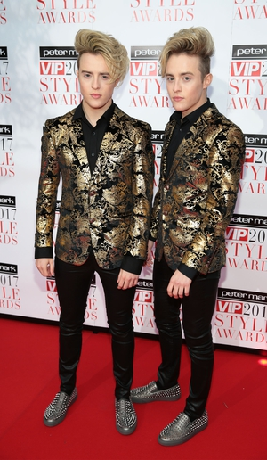 Jedward looked very slick in black and gold ensembles.