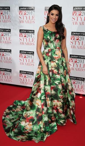 VIP's Most Stylish Woman Suzanne Jackson wore a stunning Julie Caulfield dress on the night.