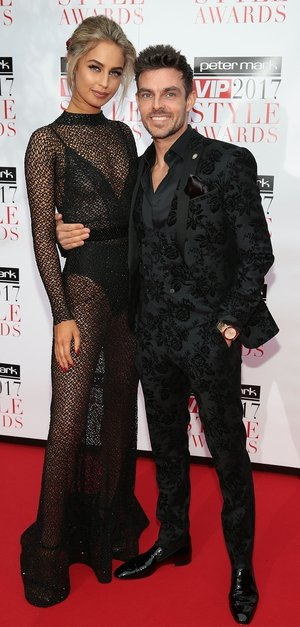 Model Thalia Heffernan and pro-dancer Ryan McShane looked only gorgeous on the red carpet. Thalia wore a JF Dance dress that won her Best Look of the Night.