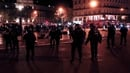 Six police officers and three protesters were slightly injured in the violence in central Paris