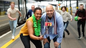 Rugby star Sophie Spence and football legend Paul McGrath at the launch of the new Eir app