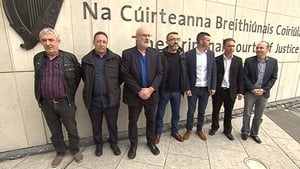 All seven defendants have pleaded not guilty to falsely imprisoning Joan Burton and her adviser in Jobstown on 15 November 2014