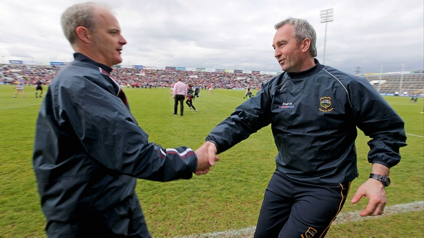 Managers Michael Donoghue and Michael Ryan after the game