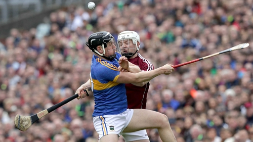 Joe Canning and Dan McCormack clash on Sunday