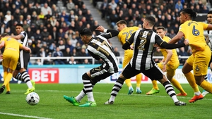 Ayoze Perez opens the scoring for Newcastle