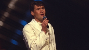 Johnny Logan wins the Eurovision Song Contest for the second time