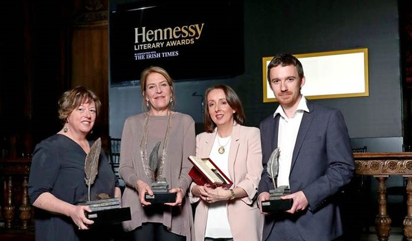 Hennessy Award 2017 winners Vona Groarke (Lifetime Achievement),Una Mannion, Rachel Donohue and Sean Tanner