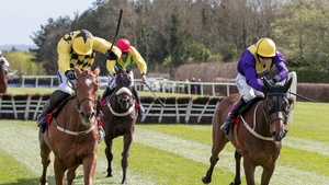 Ruby Walsh on Melon (l) in last April's Champion Novice Hurdle at Punchestown