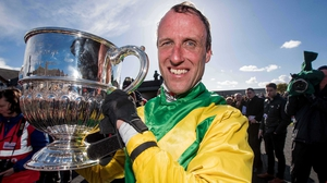Robbie Power celebrates his Champion Chase win