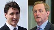 Justin Trudeau said he was looking forward to meeting Enda Kenny to 'further deepen' the relationship between Canada and Ireland