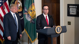 US President Donald Trump and Treasury Secretary Steven Mnuchin