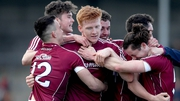 Galway players celebrate their unexpected All-Ireland semi-final win over Kerry