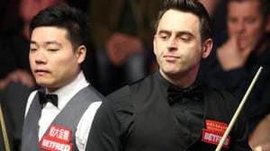 Ding Junhui (L) got the better of Ronnie O'Sullivan in their quarter-final