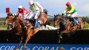 Robbie Power on Sizing John clears the last to win the Punchestown Gold Cup