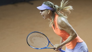 Sharapova looked like her old self after serving a 15-month drugs ban