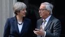 Jean-Claude Juncker and Theresa May at 10 Downing Street