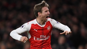 Monreal's strike was deflected to give Arsenal victory