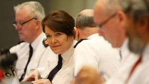 Garda Commissioner Nóirín O'Sullivan is at a public meeting of the Policing Authority