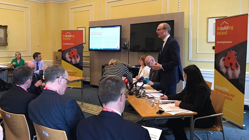 Simon Coveney at the launch today (Pic: @HousingPress)