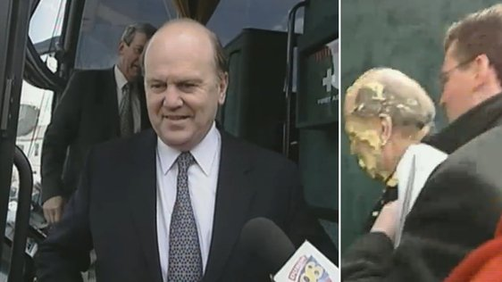 Michael Noonan Hit By Pie