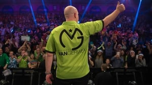 Michael van Gerwen was in sizzling form in Birmingham