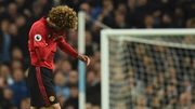 Marouane Fellaini heads for an early bath