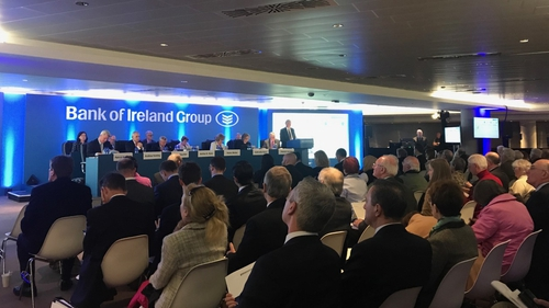 Bank of Ireland is holdings its Annual Court Meeting - or AGM - today