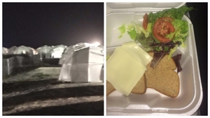 Some of the 'grim' conditions and food that greeted festival goers