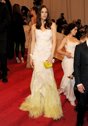 Liv Tyler wore Givenchy to the Met Gala in 2011. Theme: Alexander McQueen: Savage Beauty