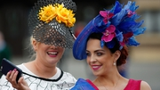 Racegoers on Ladies Day at the Punchestown Festival