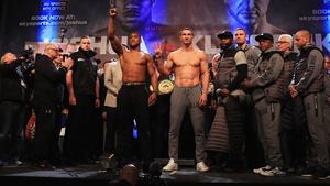 Anthony Joshua and Wladimir Klitschko weighed in on Friday ahead of the Saturday showdown