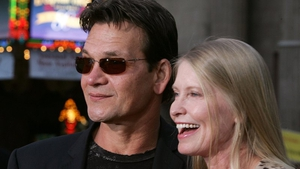 Patrick Swayze pictured with Lisa Niemi