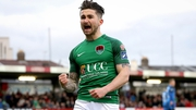 Sean Maguire celebrates his goal against Bray Wanderers