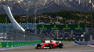 Sebastian Vettel topped the time sheets again in Russia