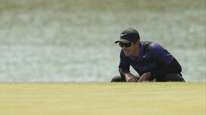 Dylan Frittelli of South Africa leads the Volvo China open after three rounds