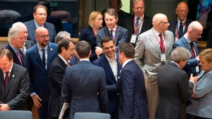 EU leaders chat at the Brexit summit in Brussels