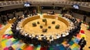 A general view of the round table meeting of EU heads of state