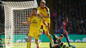 Ashley Barnes opens the scoring for Burnley against Palace